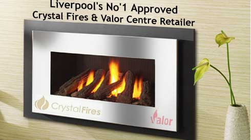 approved gas fires showroom
